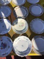 Vtg Mismatched China Salad Dessert Plates ~ Pretty Florals ~ Set of  12~