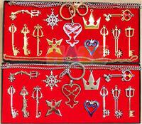 13pcs Spiel-Königreich-Herz-Waffen Keychain Halskette 2 färbt großes Geschenk