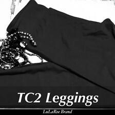 New LuLaRoe TC2 Solid Black Leggings Rare Legging BLK Brand New with TAGS Nior
