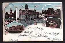 112204 AK Itzehoe Litho 1896 Bahnhofs Hotel Kaserne Kirche Freudenthal Eichthal