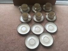 6 x Denby Cups And 11 Saucers