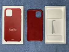 Iphone 11 Pro Official Leather Case - Product Red