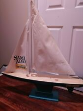 Samuel Sam Adams Summer Ale Beer Wooden Sailboat display.  RARE NIB.