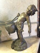 XIXe Auguste Moreau régule statue sculpture Enfant cruche water carrier 19th