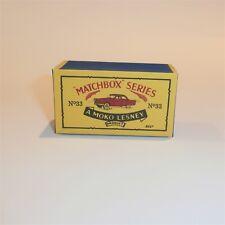 Matchbox Lesney 33 a Ford Zodiac empty Repro B style Box