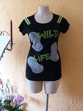 MAXIMA Tunika Shirt 38 40 NEU! schwarz grün Reißverschluss-Ärmel´Stretch