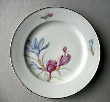 Hutschenreuther Porzellan Zierteller Goldrand Dekor Krokus Blüten Kuchenteller