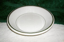 "VINTAGE MERCER HOTEL WARE VITRUS SOUP/CEREAL BOWL GREEN TRIM 7 1/4"" DIAMETER"