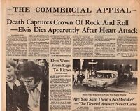 Elvis Presley Death Newspaper THE COMMERCIAL APPEAL Mint 1977
