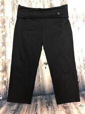 Old Navy Women's Size Medium Athletic Yoga Running Cropped Leggings Pants Black