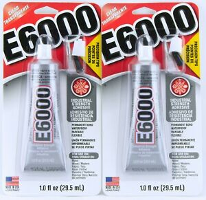 2 Pack E6000 Industrial Adhesive Permanent Flexible Clear Glue