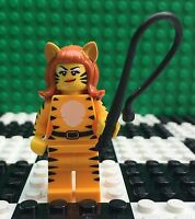Lego 71010 Monsters Minifigures Series 14 TIGER LADY GIRL Costume Whip Minifig