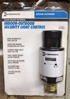 Intermatic Outdoor Security Light Control - SOUND ACTIVATED Screws Into Socket