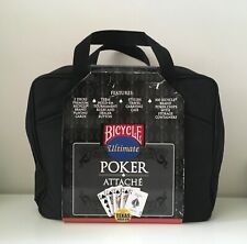 Ultimate Bicycle Poker Set Attache 500 Chips Dealer Button 2 Decks Travel Case