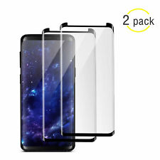 Samsung Galaxy S8 S9 Plus Note 8 9 Tempered Glass 4D Full Cover Screen Protector