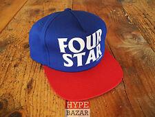 FOURSTAR SNAPBACK CAP NEU FARBE:BLUE-RED 4 STAR CLOTHING CO x ANTI HERO
