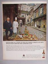 Hostellerie de la Poste Restaurant PRINT AD - 1965 ~~ Canadian Club Whiskey