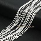 Wholesale Lots Women 925 Sterling Solid Silver Snake Chain Necklaces 16