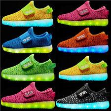 Junge Mädchen Kinder LED Glow Blinkschuhe USB Licht Schuhe Kinderschuhe Sneakers