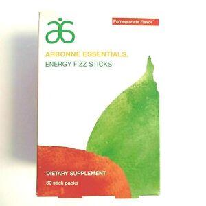 Arbonne Essentials Energy Fizz Sticks Pomegranate 30 Sticks Ex04/2022 Ships Free