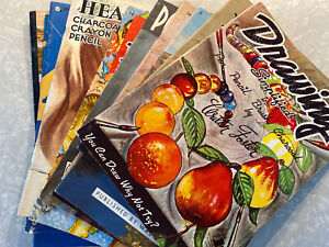 Walter Foster Art Books LOT of 10 Learn Drawing Painting Craft Vintage 1960USA