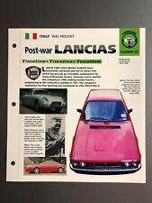 """Post-war Lancias Timeline IMP """"Hot Cars"""" Spec Sheet Folder Brochure Awesome L@@K"""