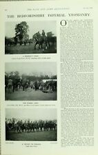 1902 PRINT BEDFORDSHIRE IMPERIAL YEOMANRY CAPTAIN GEORGE EVANS COL MILES PARADE