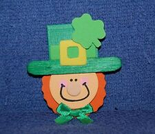 Small Leprechaun, Wood and Foam Refrigerator Magnet, Made in the Usa