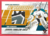 2015-16 Cory Schneider ITG Final Vault 2010-11 Heroes and Prospects Patch 1/1