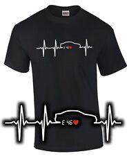 T-shirt cardíaco e 46 tuning 3er m3 reunión sátira I Love bmw 3 trío culto