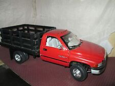 ANSON 1:18 1995 DODGE RAM 3500 pickup stake flatbed dump truck 1 ton dually