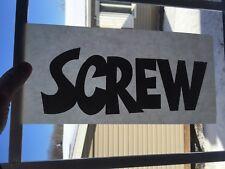 Vintage Screw Magazine Sex Iron On Transfer