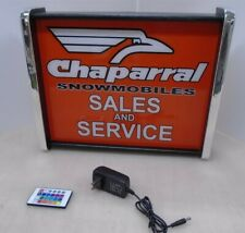 Chaparral Snowmobiles Sales Service Led Display light sign box
