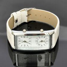 2x Timezone SOKI White Analog Quartz Lady Leather Band Womens Holiday Watch