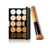 Pro 15 Colors Makeup Concealer Contour Palette   Cream Loose Powder Makeup Brush