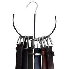 Evelots® Premium Tie, Belt, & Scarf Hanger, Non-Slip Closet Organizer Hook