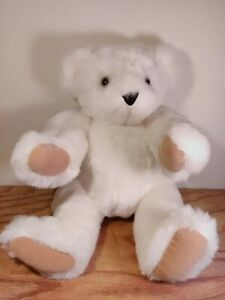 "Vermont Teddy Bear - White - 16"" - 2011 - Jointed"