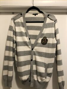 Express - Cardigan - Gray/Silver (Men - Size Small)