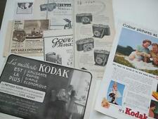 7 ORIGINAL ADVERTS 1920+ CAMERAS KODAK NIKON BELL-HOWELL PATHESCOPE GOERZ AGFA
