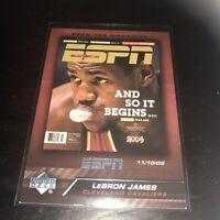 Upper Deck ESPN Lebron James And So It Begins Base 2005