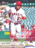 2018 Topps NOW #116 Mike Trout MINT Launches MLB Leading Home Run LA Angels!
