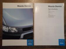 MAZDA DEMIO 1.3i orig 1998 UK Mkt Prestige Sales Brochure + Specs
