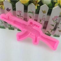 3D Silicone Assault Rifle Gun Mold DIY Chocolate Cake Decorating Tool Mold MA