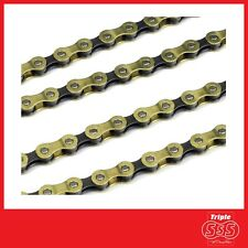 9 SPEED CYCLE CHAIN 114 LINK GOLD - MTB MOUNTAIN BIKE HYBRID BICYCLE XC DOWNHILL