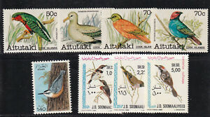 3 Tough to find BIRD issues from Aitutaki, Algeria, and Somalia All MNH