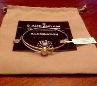 Alex and Ani Sacred Studs Illumination Crystal Gold Expandable Bracelet Bangle