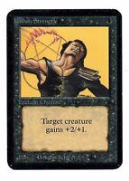 Unholy Strength - ALPHA Edition - Old School - MTG Magic #2 - GD