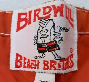 Birdwell Beach Britches Board Shorts Size 34-38 Swimming Trunks Rustic Orange