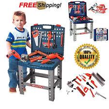 Kids Toy Tool Bench Work Set Play Pretend Workshop Toddler Boys Drill Box Fun