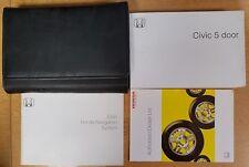 GENUINE HONDA CIVIC 5 DOOR OWNERS MANUAL HANDBOOK WALLET 2005–2008 PACK D-245 !